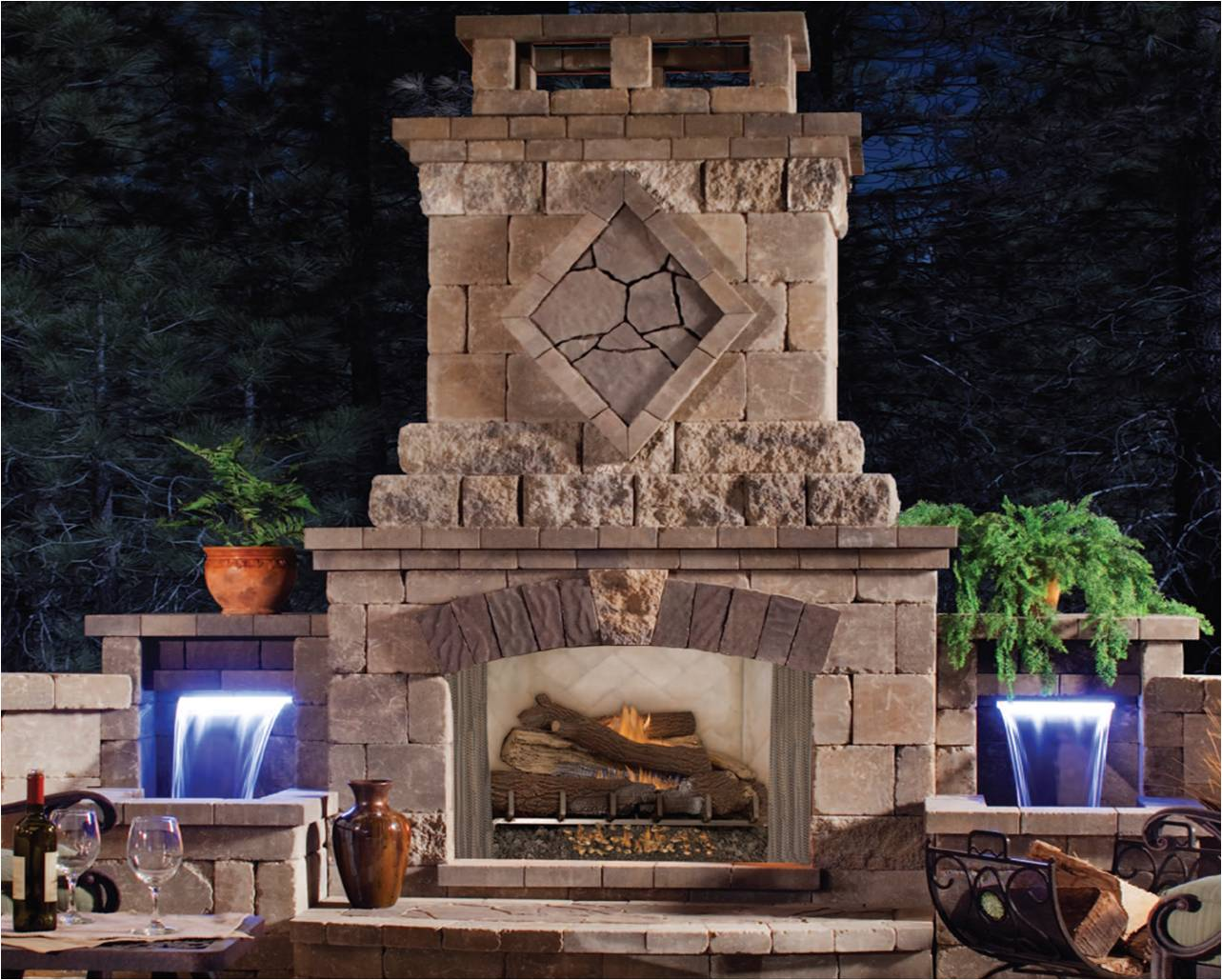 Top 21 designs for the outdoor fireplace qnud Outdoor fireplace design ideas