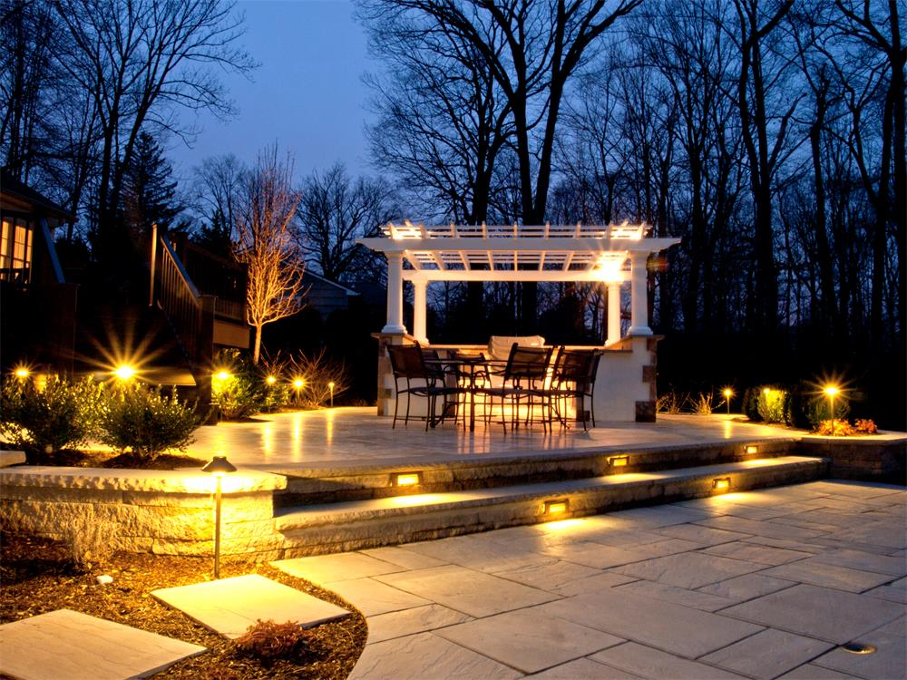 outdoor landscape lighting ideas pictures