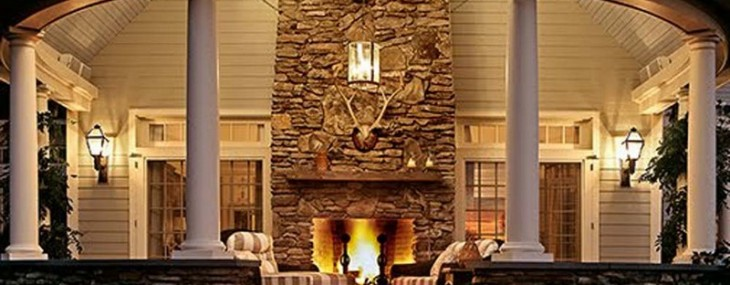 Outdoor Rooms With Fireplaces 6355