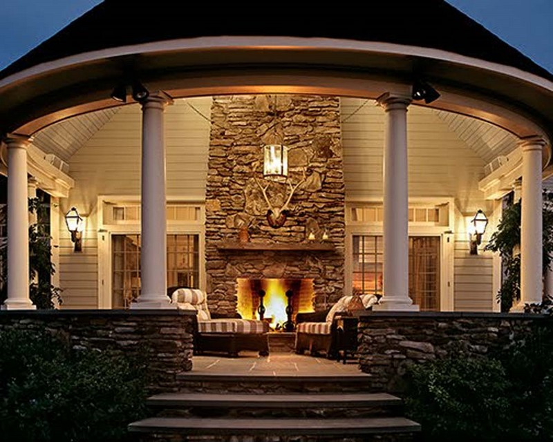 Outdoor rooms with fireplaces 6355 for Outdoor room with fireplace