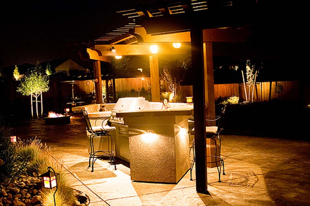 Patio Barbeque Lighting