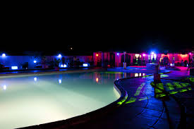 Floating Lights in the Pool