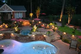 Poolside Outdoor Lighting