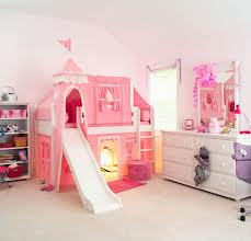 Princess Bunk Beds with Slide