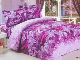 Purple Floral Girls Bedding Sets