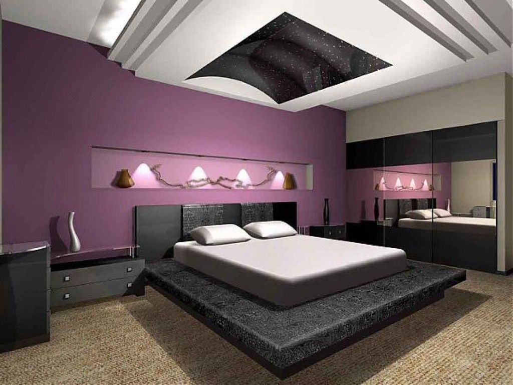 Purple Modern Bedroom Design Ideas