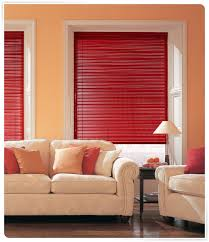 Red Window Blinds