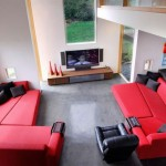 Red and Black Living Room