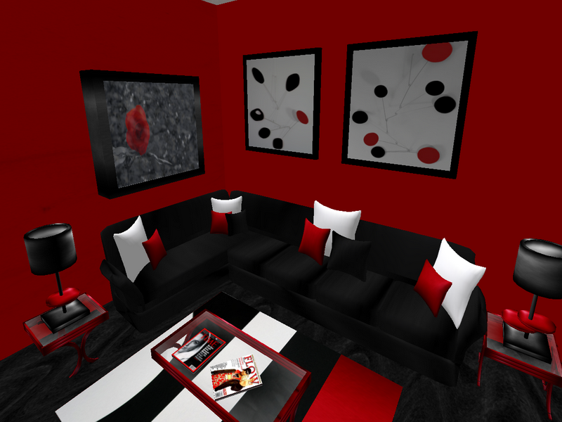 25 must see modern living room ideas for 2014 qnud - Black red and grey living room ...