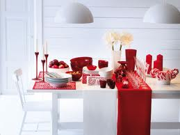 Red and White Dining Room
