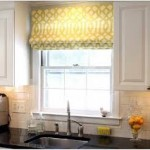 Roman Curtains in the Kitchen