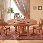 Round Oak Dining Table