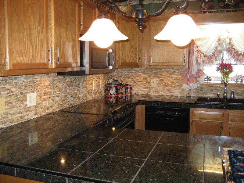 Great Rustic Kitchen Backsplash