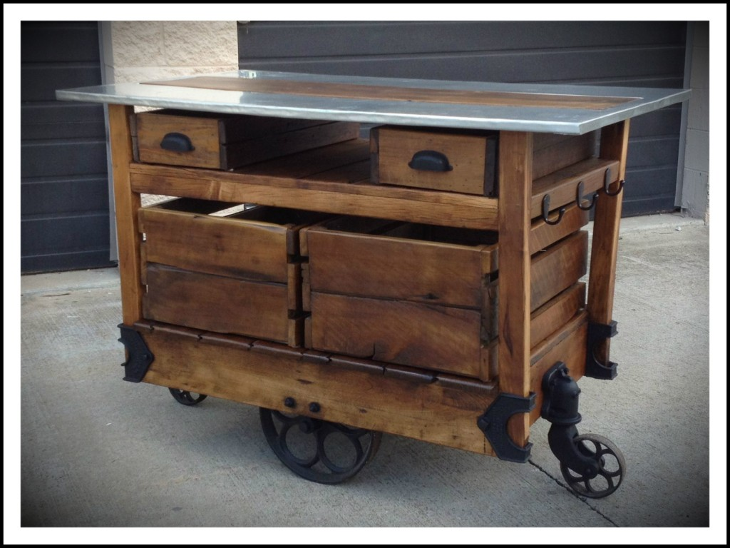 Wooden Kitchen Island Carts