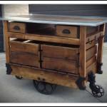 Rustic Kithcen Island Cart