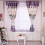 Short Purple Living Room Curtains