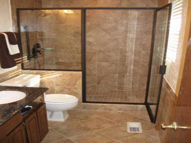 Shower tile designs 6286 for Brown tile bathroom ideas