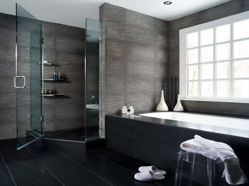 Top 25 small bathroom ideas for 2014 qnud for Small dark bathroom ideas