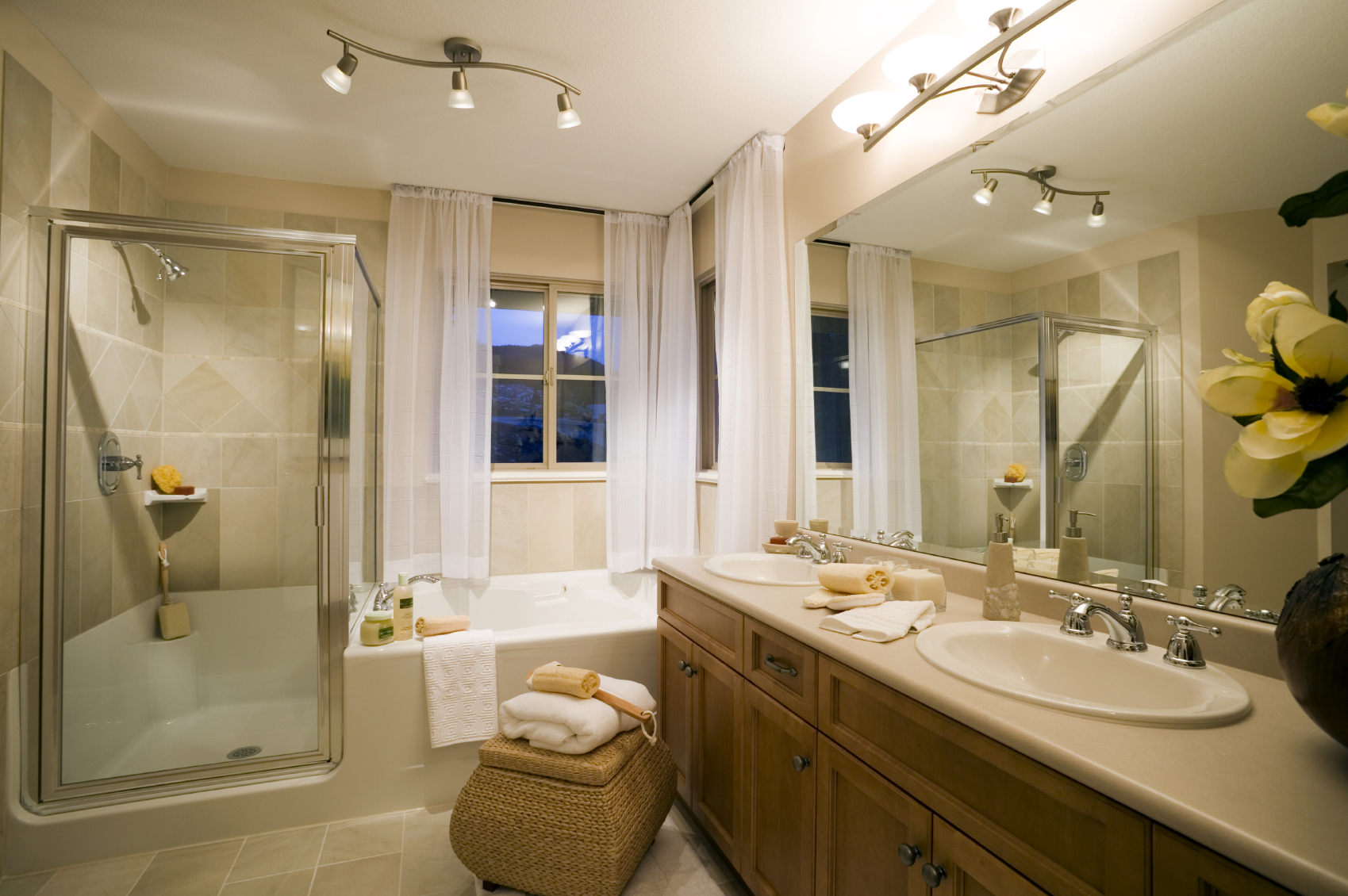 Small bathroom window treatments 6711 for Tub remodel