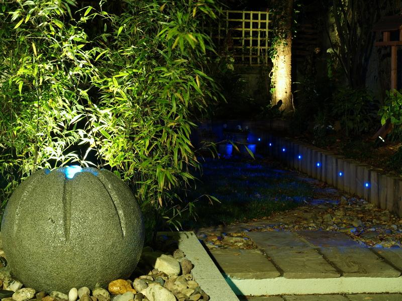 Small Garden Lighting Idea