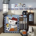 Snoopy Baby Boy Nursery Bedding