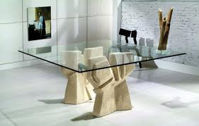Square Glass Dining Table