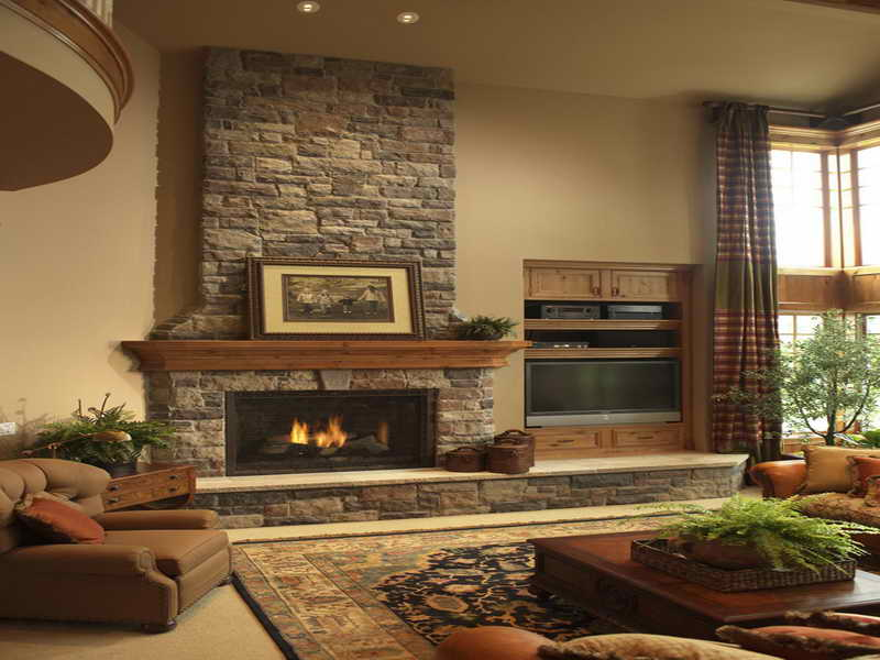 return to stone fireplace ideas