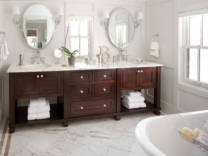 White Double Sink Bathroom Vanity Traditional Double Sink Vanity For A  Contemporary Bathroom
