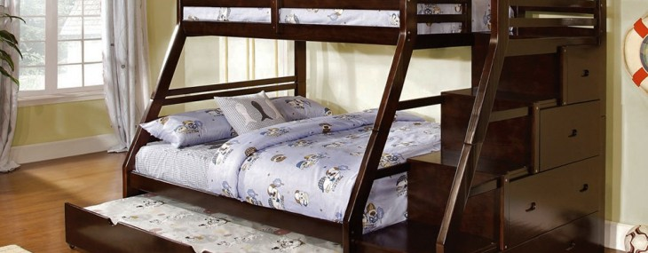 Twin Over Queen Bunk Bed 6195