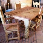 Unfinished Rustic Dining Table