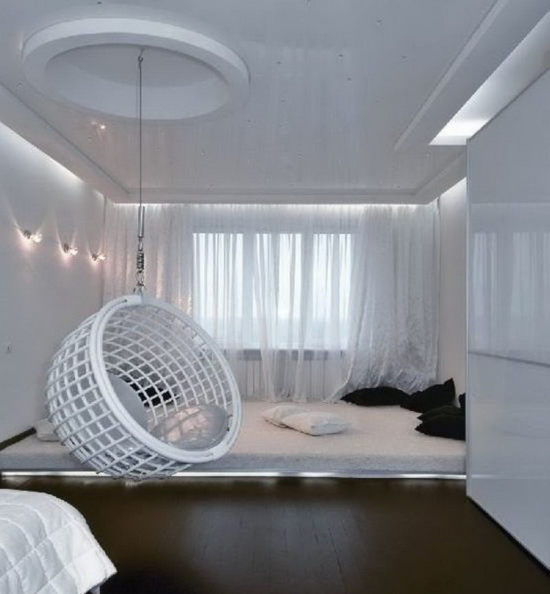 Unique White Accessories Bedroom