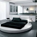 Unique Black and White Bedroom