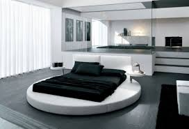 Unique Black and White Bedroom
