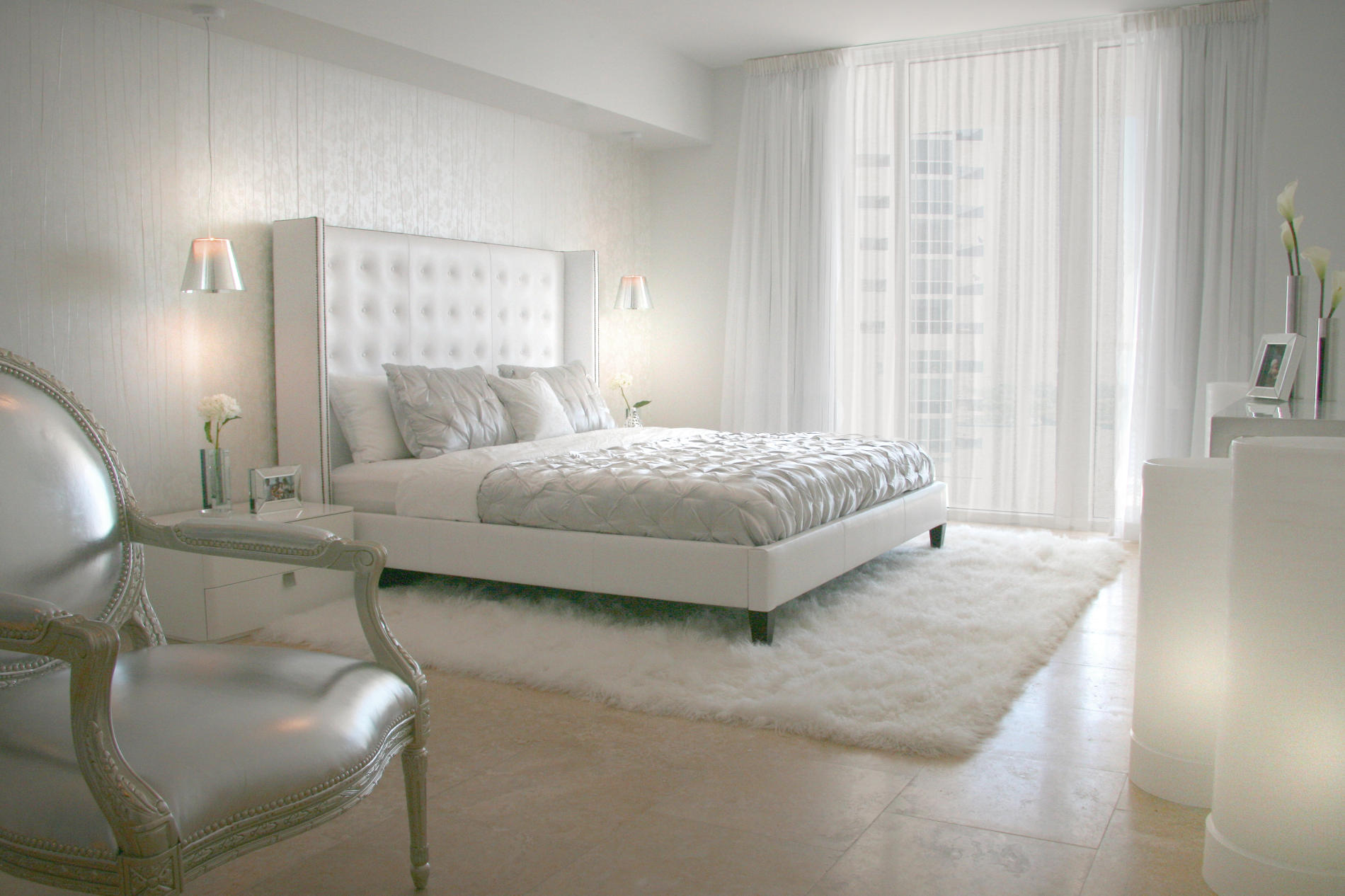 Ordinaire White Bedroom Window Treatments
