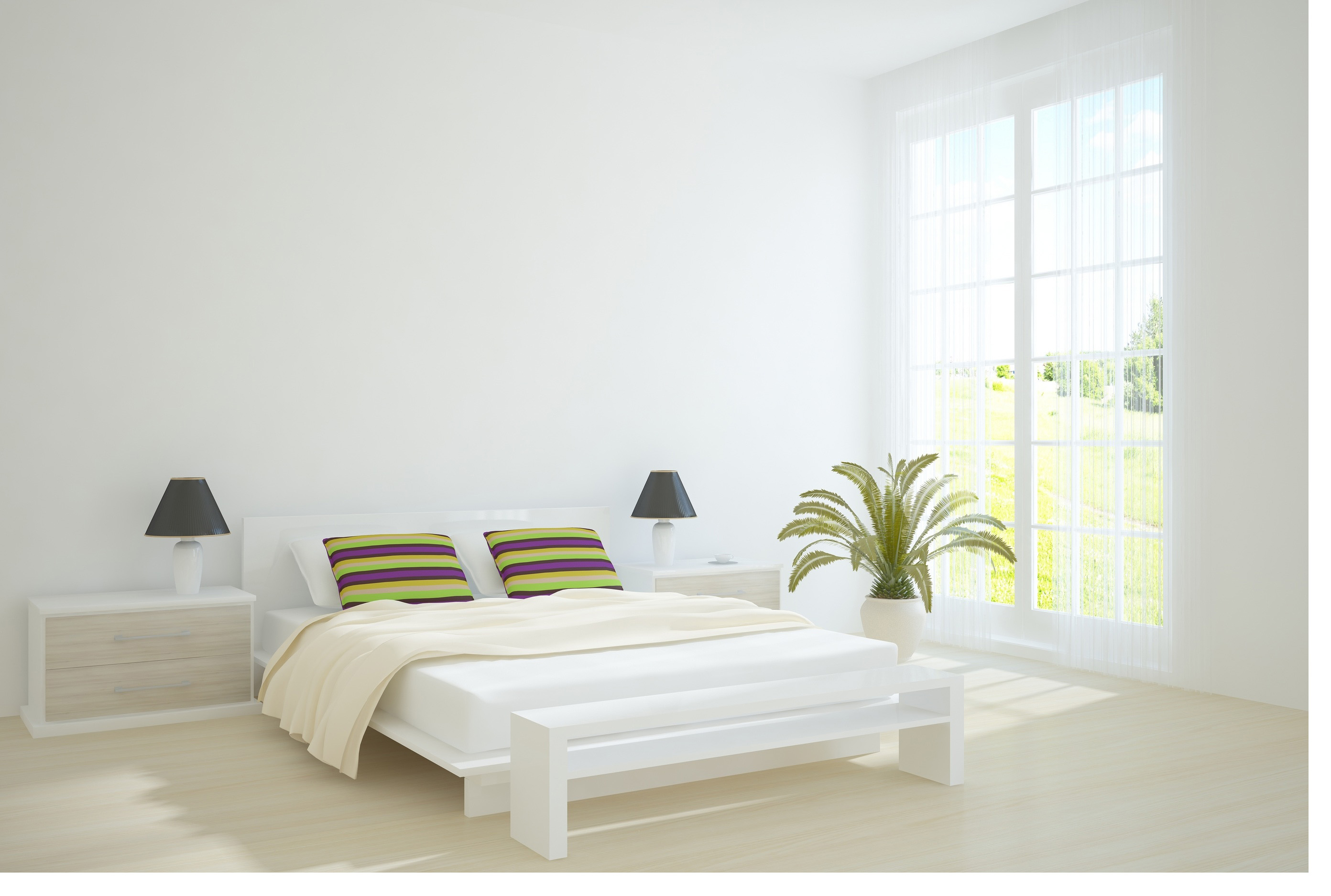 21 must see white bedroom ideas for 2014 qnud for Simple modern interior design