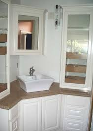 White Corner Bathroom Vanity