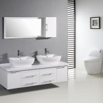 White Double Sink Bathroom Vanity