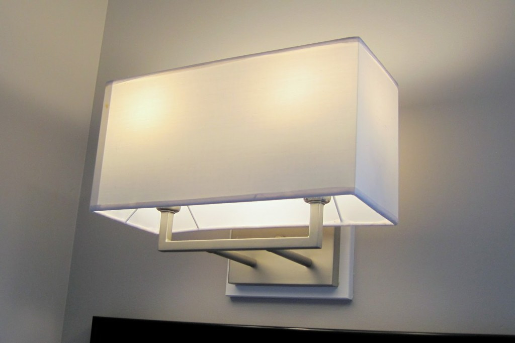White Porcelain Bathroom Light Fixture