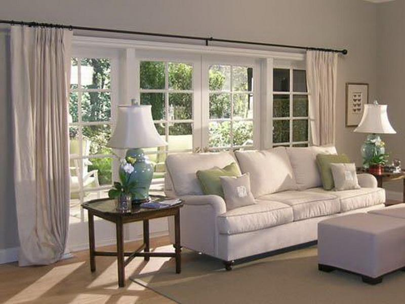 Window Treatment Ideas for a White Living Room (6687)