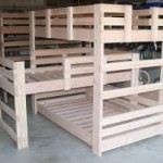 Wooden Triple Bunk Beds