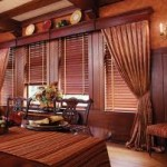 Wooden Venetian Blinds for a Home Office