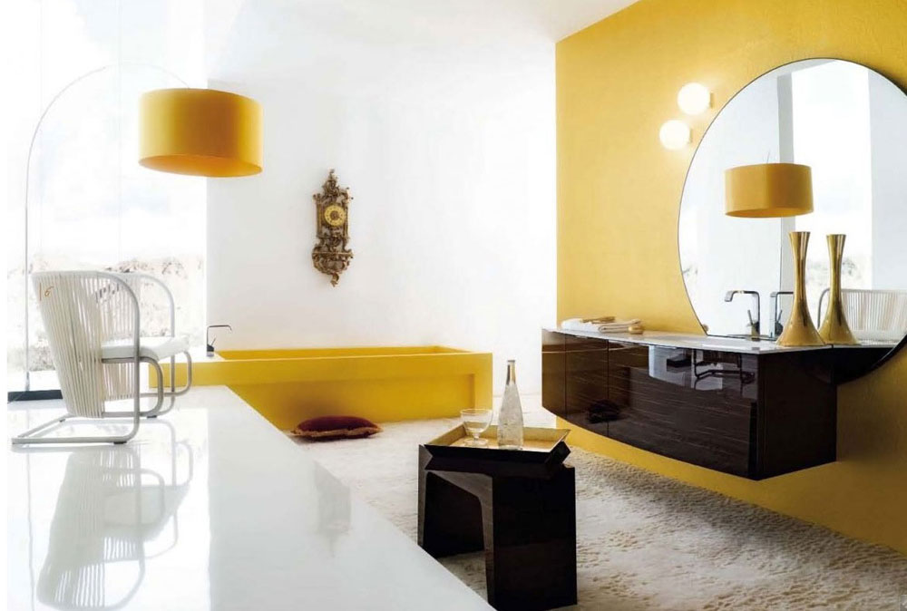 Yellow Contemporary Bathroom Light Fixtures